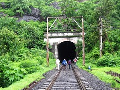Trak - ing on the tracks to Khandala (Mezzotint) Tags: top tunnel khandala