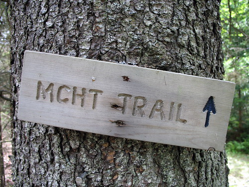 MCHT trail sign