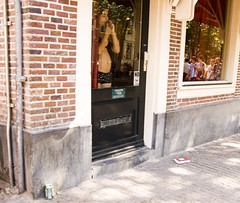 Prostitute With Pot Belly Waits for Business (Shanghai Sky) Tags: windows man holland dutch amsterdam alley prostitute potbelly