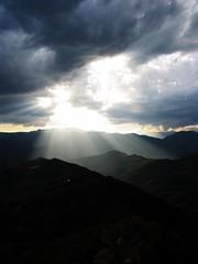F o r e v e r (Loopy Louey) Tags: sky italy clouds italia rays mountians beams baiardo