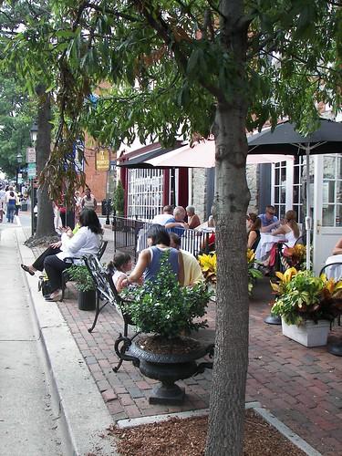 Restaurant on King Street, during the Alexandria Art Fair
