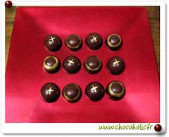 Billes de chocolat pour jeu de morpion