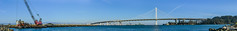 western dock industries (pbo31) Tags: sanfrancisco california bridge blue summer panorama color port bay pier dock construction nikon marine treasureisland crane large august panoramic baybridge bayarea sas 80 stitched 2015 boury pbo31 easternspan d810