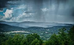 Rain in the Valley (Michael Kline) Tags: blue sky rain clouds august ridge va parkway 2015
