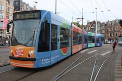 Lijn 4 -> Centraal Station (AMSfreak17) Tags: summer public netherlands amsterdam advertising traffic reclame nederland siemens tram 13g trams muntplein gvb ov the combino vervoer 2098 openbaar 14g amsfreak17