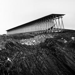 Steilneset, Vardø (mortius) Tags: bw 6x6 film norway rolleiflex mediumformat blackwhite north rodinal witchcraft finnmark vardø arista varanger adonal steilneset