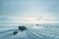 Radiating Uncertainty (Nick Twyford) Tags: longexposure newzealand seascape fog clouds rocks waves auckland nz northisland ripples westcoast waiuku awhitu leefilters hamiltonsgap nikond800 lee09nd lee06gndsoft nikkor160350mmf40 solmetageotaggerpro2