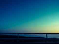 Arriving at the Sea (Al Fed) Tags: bridge blue sunset sea car drive evening driving croatia hr rijeka arriving hr2015 20150810