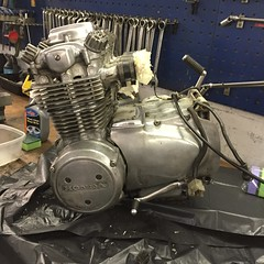 IMG_0533 (digyourownhole) Tags: vintage honda motorcycle restoration caferacer cb550 bratt buildnotbought