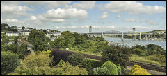 Coombe by Saltash ( and Royal Albert Bridge) (Jim the Joker) Tags: plymouth firstgreatwestern gwr sprinter saltash greatwesternrailway royalalbertbridge rivertamar ikbrunel fgw class150 coombebysaltashviaduct