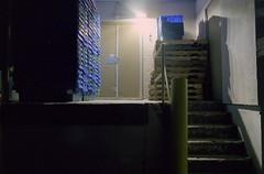 Loading Bay (Alexander Rabb) Tags: film night 35mm store nikon kodak connecticut ct nikonf100 pharmacy nikkor portra fairfield c41 kodakportra400 fairfieldcounty nikkor28mmf28ais