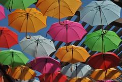 Bunte Regenschirme * Colorful umbrellas * Coloridas paraguas . DSC_9001-002 (maya.walti HK) Tags: espaa spain flickr umbrellas paraguas spanien regenschirme schirme 2013 111015 nikond3000 copyrightbymayawaltihk