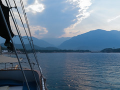Boat trip | Journey ends (kuzzzma) Tags: travel sea summer sky mountains turkey photo mediterraneansea kemer 2015 canong16