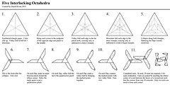 Five Interlocking Octahedra: Diagrams (Daniel Kwan) Tags: paper design origami lock daniel modular diagram fold woven stellated weave paperfolding icosahedron folding diagrams assembly unit kwan octahedron octahedra danielkwan
