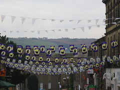 Halloween in Haworth (waldopepper) Tags: halloween flags haworth