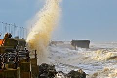 Storm Abigail batters New Brighton (Tom Munns) Tags: new uk sea storm liverpool brighton waves flood abigail rough surge wirral merseyside