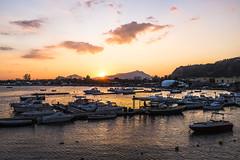 Porticello Case Vecchie (Costigliola Michele) Tags: travel sunset sky sun skyscraper landscape tramonto mare barche case porto tramonti bacoli campi vecchie porticello flegrei