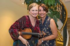Margaret Batjer and host Haleh Emrani