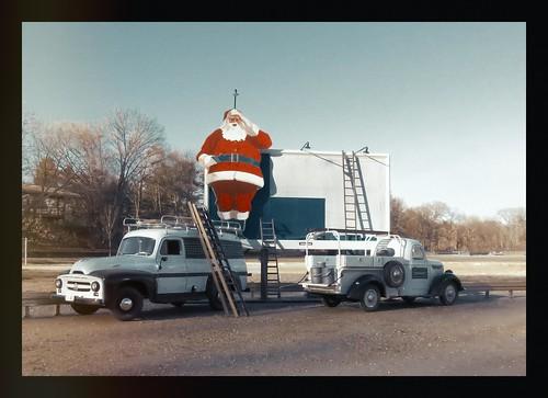 Billboard with Santa - Circa 1954