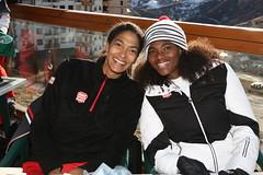 Emmeline Ndongue avec Muriel Hurtis