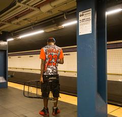 MJ With a Handcart (UrbanphotoZ) Tags: jordan mj michaeljordan 23 handcart subway fulton shirt highlightphotos mjsneakers fultonst downtown manhattan newyorkcity newyork nyc ny