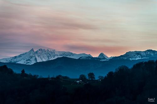 Pic du midi depuis le boulevard des Pyrenées Pau