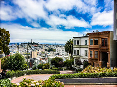 San Francisco from Lombard Street (PhotoSeing) Tags: sf san francisco lombard street city nature view