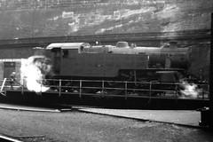 Tank on the turntable (lewispix) Tags: liverpool limestreet 42086 264t steam railway turntable
