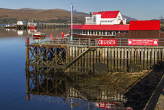Crannog Seafood Restaurant (Kev Gregory (General)) Tags: crannog seafood restaurant serving local fish meat renowned redroofed building town pier fort william overlooking loch linnhe red kev gregory reflections water lake sea scotland scottish highlands holiday tour