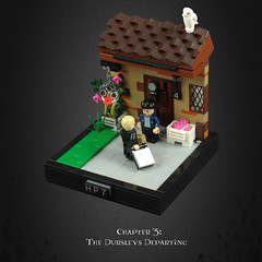 Harry Potter and the Deathly Hallows 01 – The Dursleys Departing (Umm, Who?) Tags: lego harry potter deathly hallows jk rowling hermione ron book 7 voldemort chapter 3 dursleys warner brothers hedwig magical journey 4 privet drive uk