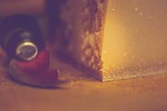 say cheese (gian_tg) Tags: corner macromondays cheese cheeseknife light bokeh depthoffield