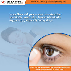 Never Sleep with your contact lenses (bhartieye) Tags: bharti eye eyecare delhi services refractive retina treatment care laser surgery asthetics phacoemulsification cataract lasik catract glaucoma glucoma phacocataract phacoemulisification ophthalmology oculoplasty hospital foundation o
