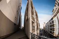 Paris, coulée verte, 2 (Patrick.Raymond (3M views)) Tags: paris architecture building coulée verte passage fisheye hdr nikon