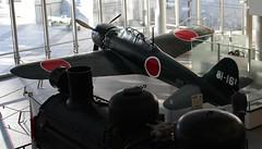 Yushukan, Yakusuni War Memorial Museum, Tokyo, Japan (illustratedlibrarian) Tags: tokyo japan chiyoda yushukan japanesewarmemorialmuseum yasukuni yasukunishrine memorials wwii pacificwar zero zerofighter mitsubishi typeo carrierbasedfighter plane locomotive burmarailroad