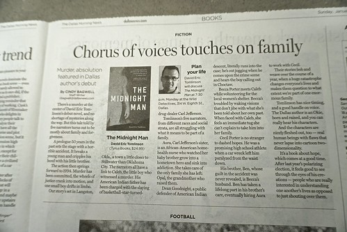 Dallas Morning News review of THE MIDNIGHT MAN