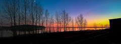 Sunset in panoramic view (Massimo Buccolieri) Tags: sunset multicolors panoramic seascape coucherdusoleil solnedgang tramonto pôrdosol lapuestadelsol sonnenuntergang