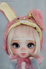 Little Bunny ♥ (-Poison Girl-) Tags: pullip pullips doll dolls custom customs full makeup faceup poisongirlsdolls poisongirldolls poisongirl poison girl bunny 2017 january enero for adoption fa fair skin skintone blonde pink hair haircolor wig short haircut bob eyes eyechips realistic handmade handpainted repaint repainted paint eyelashes eyebrows freckles pecas nose carving carved mouth lips sweet cute natural kawaii japan collector junplanning jun planning grooveinc