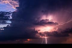 Near Banjamin (Mike Olbinski Photography) Tags: 20160614 canon5dmarkiii benjamin canon50mm12l hail lightning rain stormchasing storms sunset supercells texas