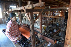 30098744 (wolfgangkaehler) Tags: asia asian southeastasia myanmar burma burmese inlelake villagelife lake innpawkhonevillage woman workshop people worker working weaver weaving weavingloom weavinglooms weavingcloth loom looms