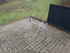 Turnstile antenna for 137 MHz assembled (csete) Tags: noaa apt ante antenna vhf turnstile dipole weather satellite
