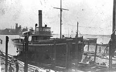 Pilot boat 'Waratah' on slip (UON Library,University of Newcastle, Australia) Tags: stockton stocktonhistory maritime shipping newcastlehistory waratah newsouthwales australia