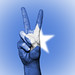 Peace Symbol with National Flag of Somalia