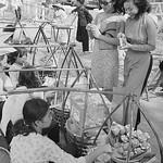 An Afternoon in Saigon, 1967 - Hai cô gái mua quà hàng rong trên công viên Đống Đa, phía trước rạp REX thumbnail