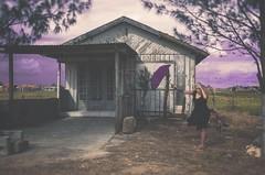Gone   Ida (Noe Britez) Tags: paraguas sombrilla casa house lila autorretrato selfportrait self violet violeta