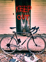 And Don't Come Back (pavementgraveldirt) Tags: black steel parts cm xc build surly 56 cyclocross cromo crosscheck 4130