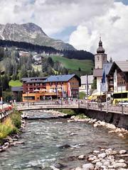 Lech Austria 2015 354 (saxonfenken) Tags: bridge mountain creek austria town stream superhero 354 lech gamewinner challengewinner yourockunam gamex2 354austria