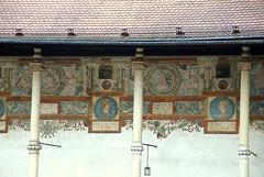 Krakau, Wawel-Schloss, Renaissance-Arkadenhof, Fresken - Krakow, Wawel Castle. Renaissance arcade courtyard, frescoes (HEN-Magonza) Tags: poland polska krakow wawel polen fresco royalpalace fresko krakau renaisssance wawelpalace wawelschloss