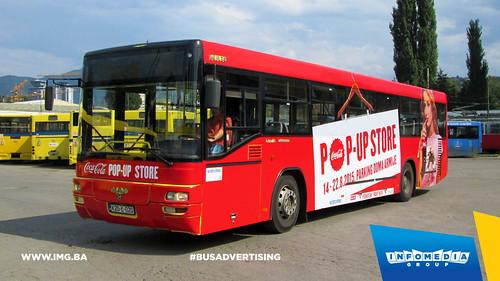 Info Media Group - Coca-Cola pop up store, BUS Outdoor Advertising, Sarajevo 08-2015 (5)