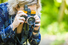 20150831_F0001: Shooting with vintage Diana+ camera (wfxue) Tags: camera portrait vintage lens photography lomography photographer candid telephoto diana dianaf 110mm