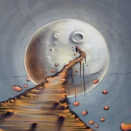 O caminho para a lua.  El camino para luna.   #joksjohnes #lua #luna #spray